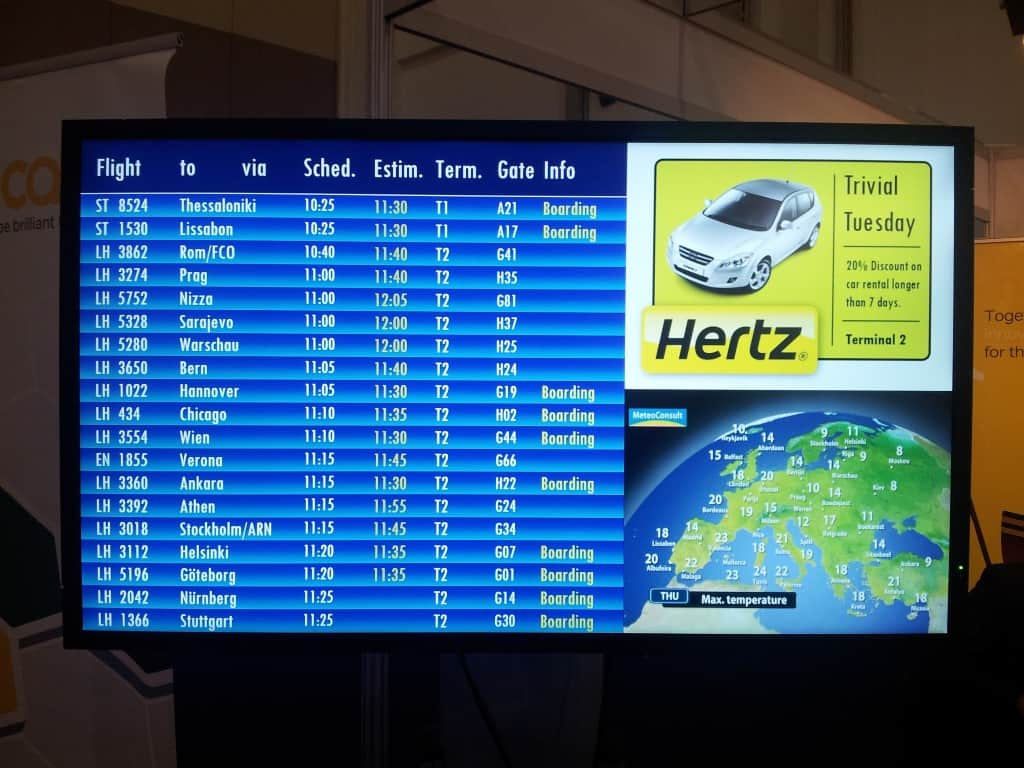 Digital Signage Airport Timetable