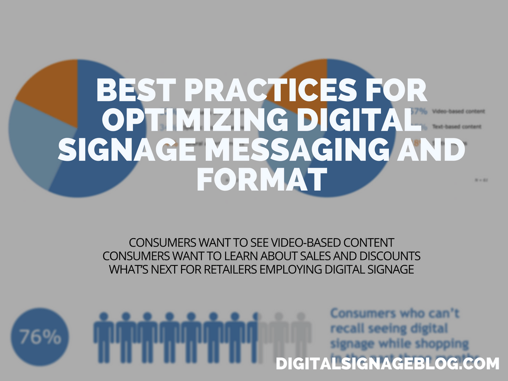BEST PRACTICES FOR OPTIMIZING DIGITAL SIGNAGE MESSAGING AND FORMAT